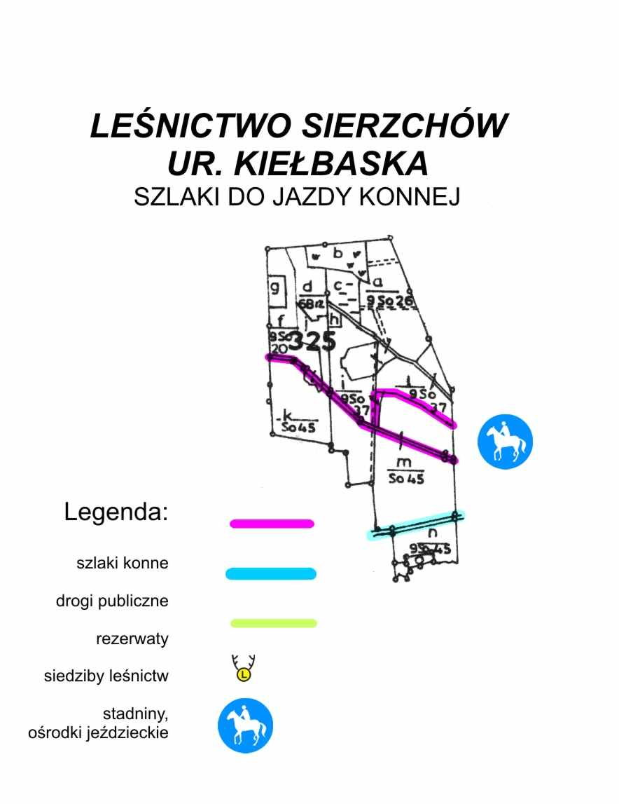 Szlaki do jazdy konnej - Kiełbaska