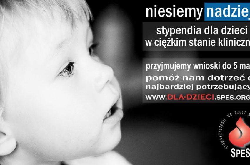 Stypendia dla dzieci w ciężkim stanie