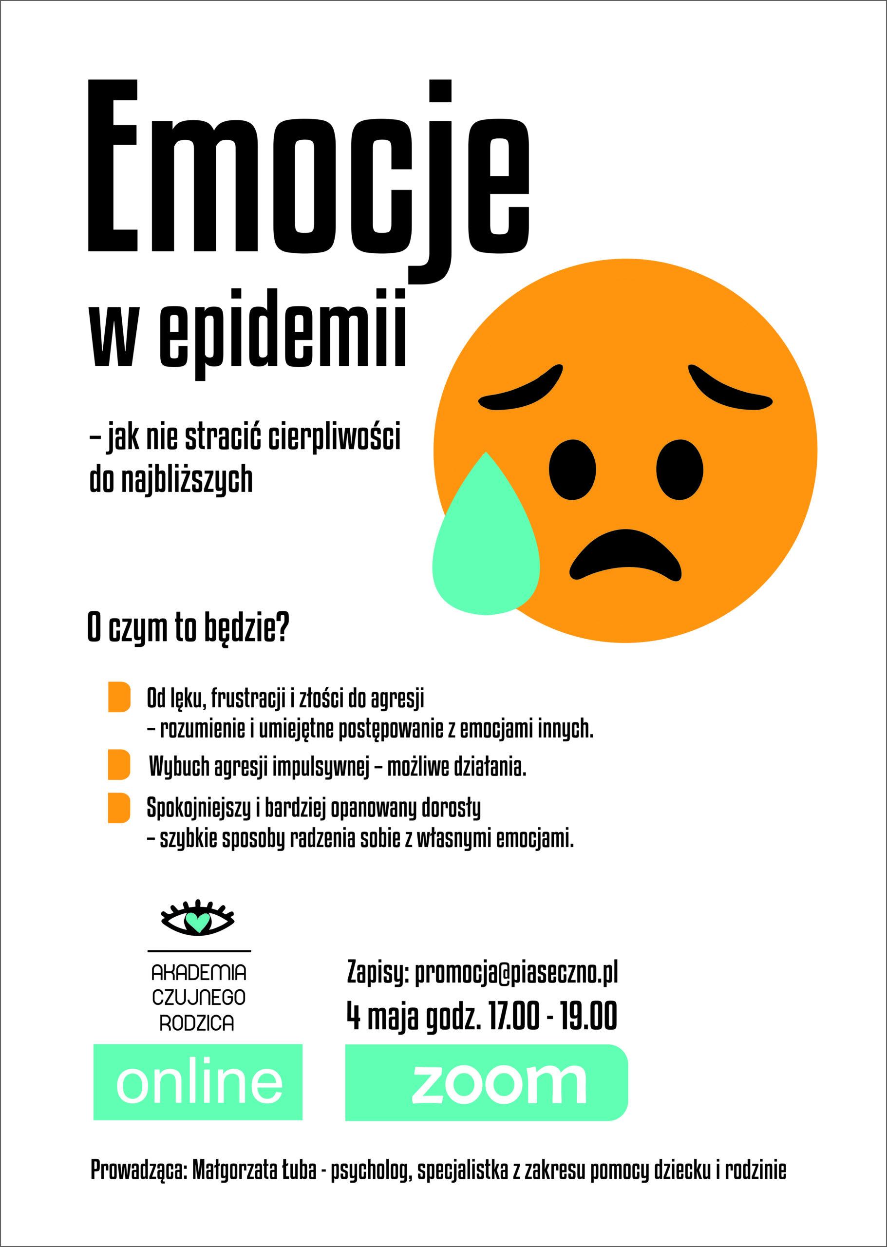 emocje w epidemii - plakat