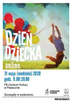 Plakat Dzień Dziecka online - Centrum Kultury w Piaseczmie