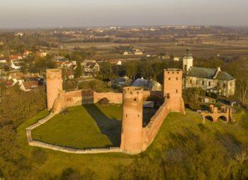 Zamek w Czersku - widok z lotu ptaka