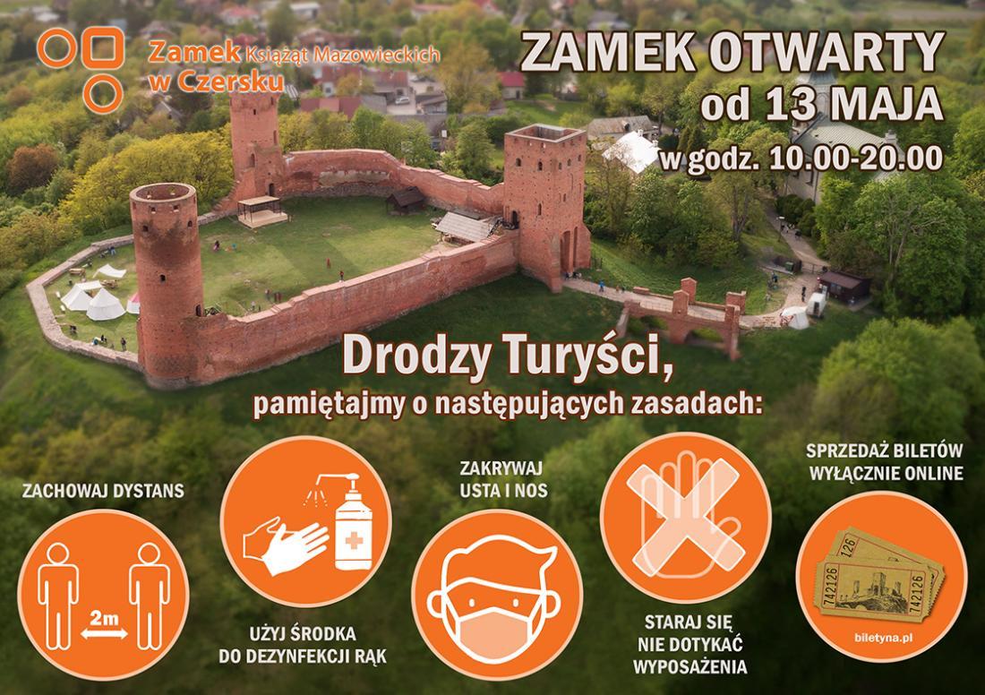 Zamek w Czersku ponownie otwarty - plakat
