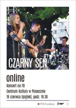 Plakat - Czarny Sen, koncert online na FB