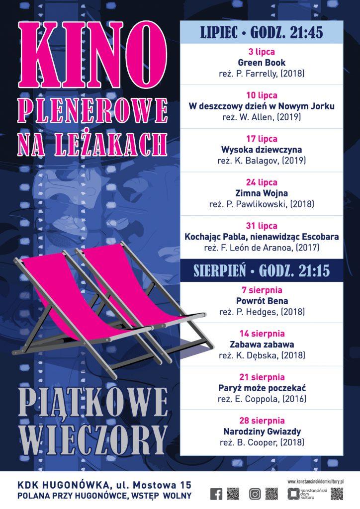 Kino plenerowe przy Hugonówce - Konstancin, plakat
