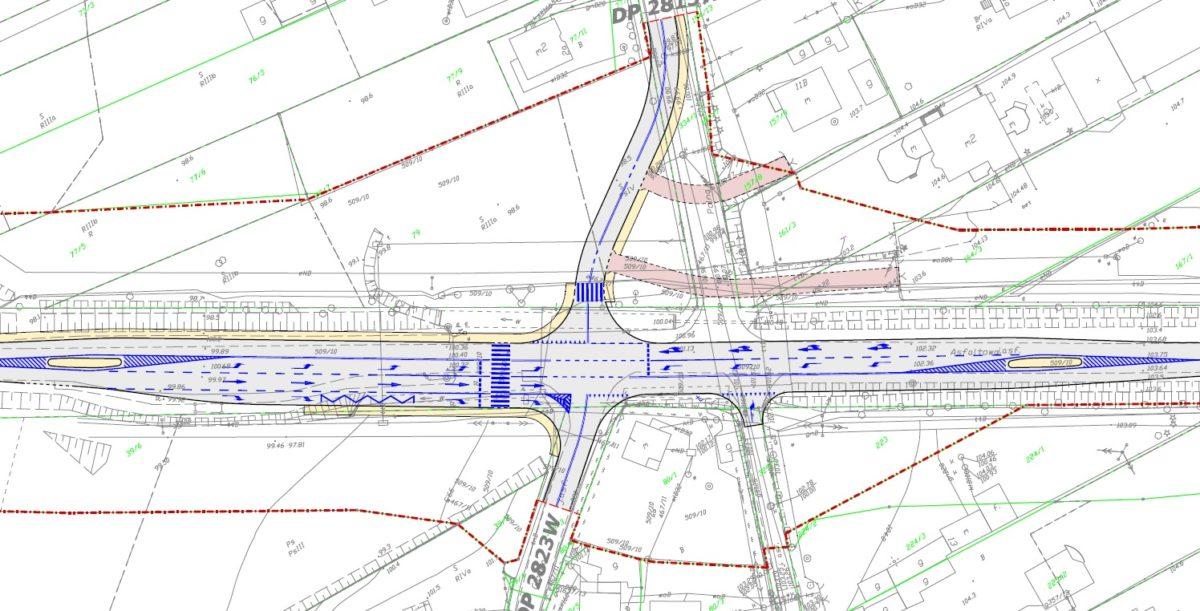 projekt przebudowy skrzyżowania