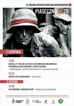 Plakat 76. Rocznica Wybuchu Powstania Warszawskiego