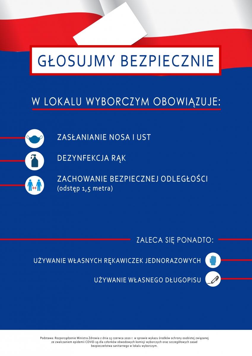 Głosujmy bezpiecznie - plakat