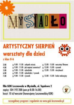 Artystyczny sierpień, plakat